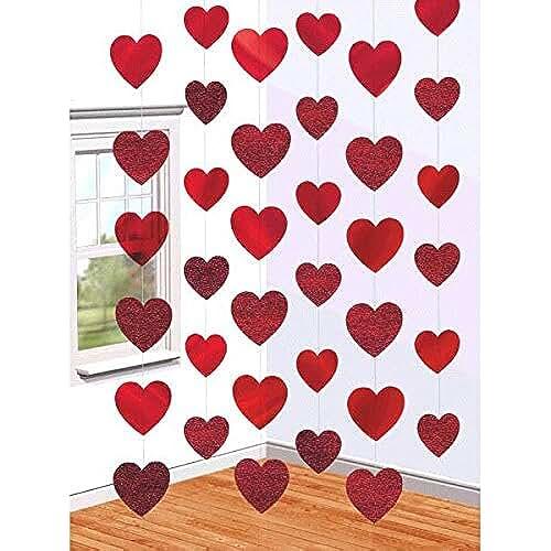 Amscan International - Guirnaldas decorativas, diseño de corazones