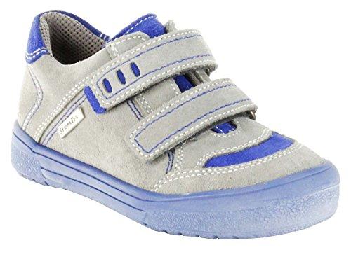 Richter Kinder Halbschuhe grau Velourleder Sympatex Jungen-Schuhe 6735-521-6101, Farbe:grau, Größe:33