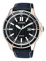 Citizen Hombre Reloj de Pulsera analógico Cuarzo Textil aw1523–01E de Citizen