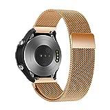 Altsommer Für Huawei Watch 2 Edelstahl Mesh Uhrenarmband Uhrenband mit Schnellverschluss,Neuer Stil Doppel-Druckknopf Schnalle Uhrenarmbänder Mailänder Uhrenband für Herren Damen (Rose Gold)