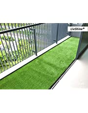 LivShine High Density Yellow & Green Yarn Weaves Artificial Grass Carpet Mat for Balcony, Lawn, Door Mat, Custom Size Available