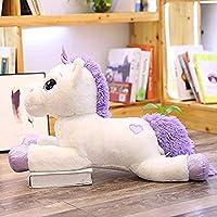 X&MM Giant Unicorn Plush Toys Cute Pink White Horse Soft Doll Stuffed Animal Large Toys for Children Girl Birthday Gift 60-110Cm