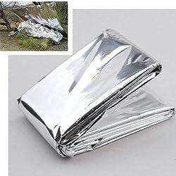 Foil Survival Rescue Emergency Blanket Waterproof Silver