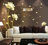 ufengke Bella Peonia Fiori Farfalle Photo Frame Adesivi Murali, Camera da Letto Soggiorno Adesivi da Parete Removibili/Stickers Murali/Decorazione Murale