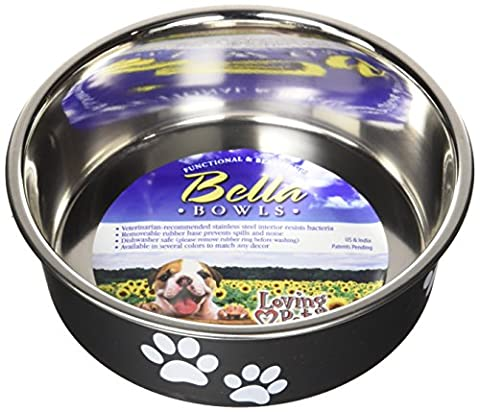 Loving Pets Bella Bowl Dog Bowl, Small, 350 ml, Espresso