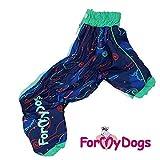 FaS-246SS-M For my Dogs Hunde Regenanzug Regenoverall Dog Anzug Rüde Regenbekleidung, Größe:16