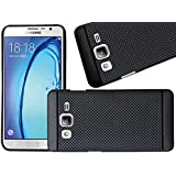 J Go Black Dotted Soft Silicone Back Case Cover for Samsung Galaxy On7 Pro