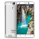 Oukitel K6000 pro Déblocage d'empreintes digitales Smartphone 4G Lte Android 6.0 Quad Core 5,5 pouces 3 Go de RAM 32 Go Rom téléphone mobile double caméra blanc...