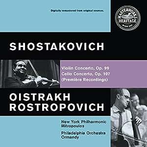 Chostakovitch : Concerto pour violon, Op.99 - Concerto pour violoncelle, Op.107