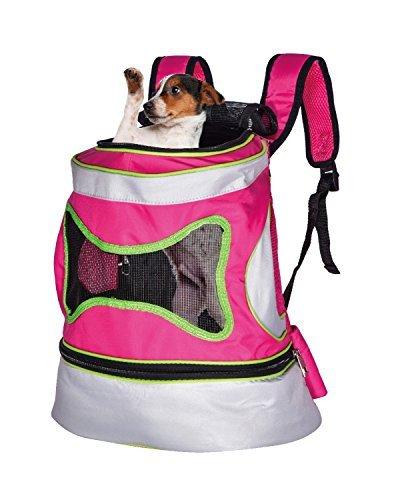 Haustiertragetasche Rucksack für Hunde Katzen bis 10kg Reise Outdoor Transport Hunderucksack 38 x 34 x 21cm