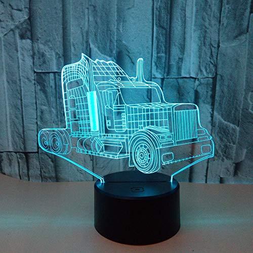 BDQZ Neue lkw 3d nachtlicht bunte visuelle geschenke led 3d nachtlicht led usb kinderzimmer licht basketball lampen kinder lampe (Lkw-service-körper)