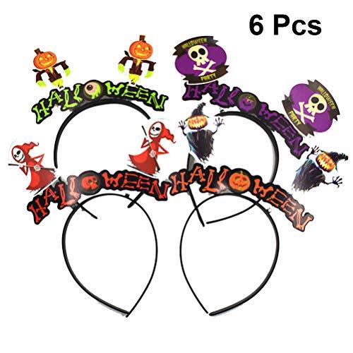 Amosfun 6 STÜCKE Halloween Haarband Geist Kürbis Teufel Cosplay Stirnband Kopfschmuck für Halloween Party Favors Fotografie Requisiten Zufällige Farbe