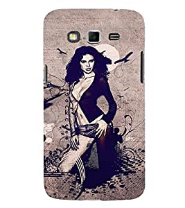 Takkloo Sketch of a lady ( hot lady picture, lady pic with nice background, flying bird) Printed Designer Back Case Cover for Samsung Galaxy Grand Neo Plus I9060I :: Samsung Galaxy Grand Neo+