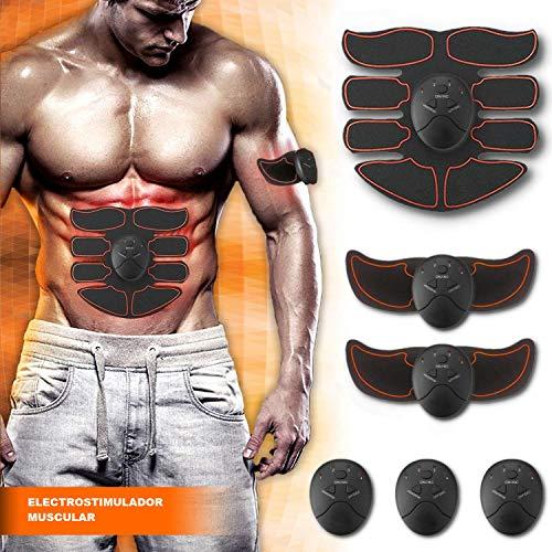 【La última Versión 2019】SMART FITNESS Electroestimulador Muscular Abdominales, Estimulación Muscular Masajeador Eléctrico Cinturón Abdomen/Brazo/Piernas/Glúteos. (Hombre / Mujer)
