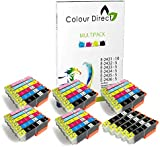 35 XL (5 Sets+5 Black) Colour Direct Compatible Ink Cartridges Replacement For Epson Expression Photo XP-55 XP-750 XP-760 XP-850 XP-860 XP-950 XP-960 Printers. 5 Sets + 5 Extra BK 24XL