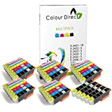 35 (5 Sets+5 Noir) ColourDirect Cartouches d'encre compatibles Pour Epson Expression Photo XP-55 XP-750 XP-760 XP-850 XP-860 XP-950 1 Set 24XL