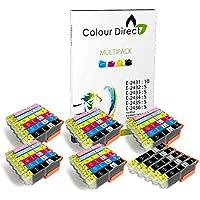 35 XL (5 Sets+5 Black) Colour Direct Compatible Ink Cartridges Replacement For Epson Expression Photo XP-55 XP-750 XP-760 XP-850 XP-860 XP-950 XP-960 Printers. 5 Sets + 5 Extra BK 24XL