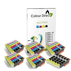 35 XL (5 Sets+5 Nero) Colour Direct Cartucce di inchiostro compatibili Sostituzione Per Epson Expression Photo XP-55 XP-750 XP-760 XP-850 XP-860 XP-950 XP-960 1 Set 24XL
