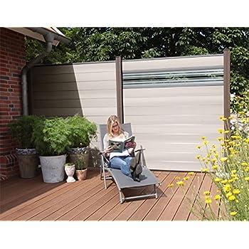 wpc zaun glasprofil hoch 180x30cm sichtschutz sichtschutz elemente. Black Bedroom Furniture Sets. Home Design Ideas