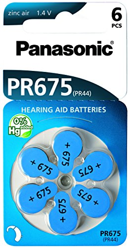 Panasonic PR675/6LB Hörgerätebatterie