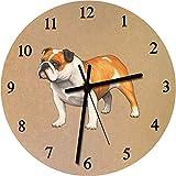 Azeeda 275mm 'Englische Bulldogge' Große MDF-Uhr (CK00025118)