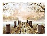 FoLIESEN Fliesenaufkleber für Bad und Küche - Fliesenposter - Motiv- Herbstimpressionen - Fliesengröße 15x15 cm - Fliesenbild 75x60 cm (LxH)