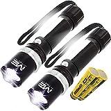 2x 2 LED Taschenlampe Polizei Swat Led Cree Zoom 1000 M Leuchtweite Power Akku