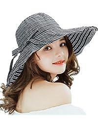 Superora Cappello da Sole Donna Estivo in Cotone Tesa Larga Cappello  Parasole Pieghevole Anti UV Protezione 63e2fe425117
