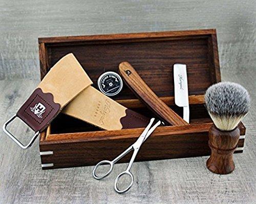 Komplett Rosewood Old Style Classic Barber Set de rasage parfaite Hommes Set de rasage Cadeau