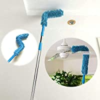 WIDEWINGS Stainless Steel Foldable Microfiber Fan Cleaning Duster Flexible Fan mop for Quick and Easy Cleaning of Home…