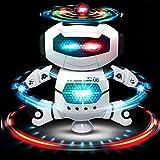Tanzender Roboter für Feier, batteriebetrieben, mit Lichtern und Musik. Fun at Home und Office