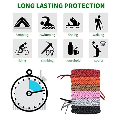 SGODDE Bracelets Anti Moustique, Premium Bracelets Anti-moustiques, Extérieure Intérieure 100% Naturel Bracelets Anti Moustique pour bébés, Enfants, Adultes, Hommes sans DEET 6 Couleur (12 Packs)