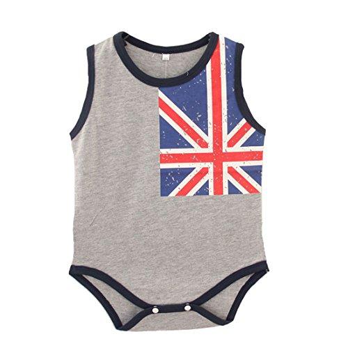Fairy Baby Kleinkind Jungen Mädchen Body Union Jack Flagge Drucke (ärmellos, 3-6 Monate)