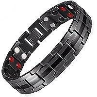 Herren-Armband, Titan, magnetisch, zur Schmerzlinderung, klein, groß, XL, negatives Ionen-Germanium-Armband, Arthritis... preisvergleich bei billige-tabletten.eu
