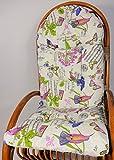 Auflage / Polster für Schaukelstuhl , Liegestuhl , Ersatzpolster Gr. 130 x 50 x 12 cm, Stoff Loneta