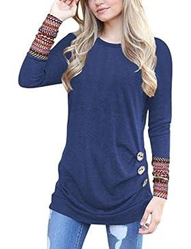 OHQ - Camiseta de manga larga - chaqueta - para mujer