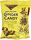 Ginger Candy , 100 % Natural , Individually Wrapped Soft Chew Ginger Candy , 4.4 oz.(125 g) Each Bag