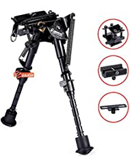 Zeadio kippbar Pivot Zweibein mit Schlinge-Halterung und 3 Adapter (15 bis 23 cm / 6 bis 9 Zoll)