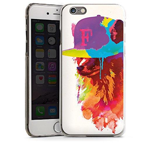 Apple iPhone 4 Housse Étui Silicone Coque Protection Renard avec casquette Peinture à l'eau CasDur transparent