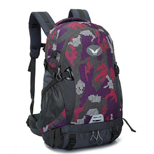 Z&N Backpack Outdoor Capienza Di 40 Litri Zaino Sportivo Casual Sacchetto Da Campeggio Ragazzi Borsa Universale Per L'Alpinismo Zaino In Nylon Impermeabile Schoolbag Sci Nuoto D 40L D