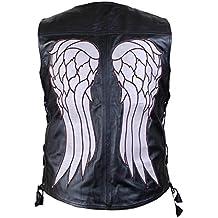 The Walking Dead Governor - Daryl Dixon Angel Wings Cuero Vest Chaqueta