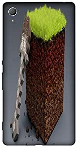 Timpax Slip-resistant, stain-resistant and tear-resistant Hard Back Case Cover Printed Design : A field.Exactly Design For : Sony Xperia Z-3