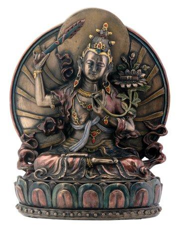 stealstreet Manjushri auf Lotus sitzend Buddhismus Display Statue