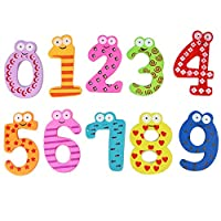 Number Card Set Math Game,BaojunHT® Colorful Wooden Cards of Arithmetic Count and Learn Number Match Preschool Learning Toy Gift for Kid(AS Show)