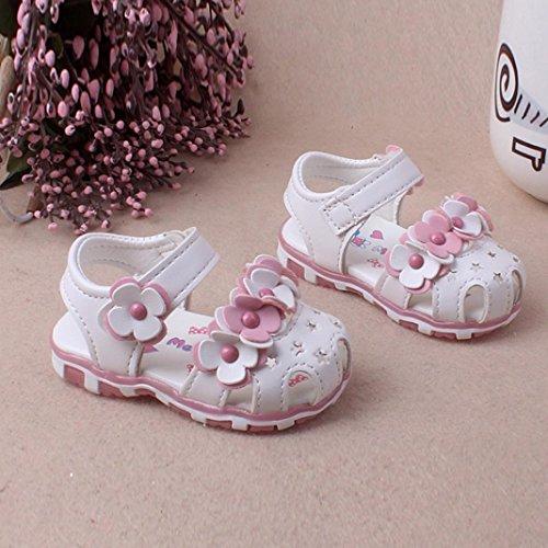 BZLine® Baby Girl Sneaker Anti-Slip Soft Sole Kleinkind Sandalen Weiß