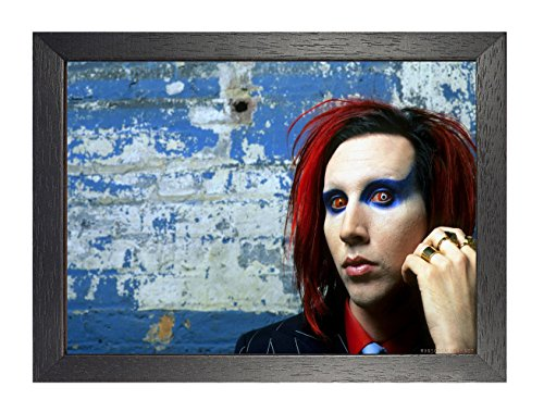 ula bear posters Marilyn Manson 32 A4 gerahmtes Poster Brian Hugh Warner Rock Metal Folk Blues Rock and Roll Album Cover Design Musik Band Beste Foto Bild Einzigartiger Druck