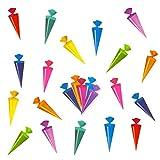 Oblique Unique® Zuckertüten Konfetti Schultüte Tisch Dekoration zur Schuleinführung - Konfetti Zuckertüte Einschulung Schulanfang - 2