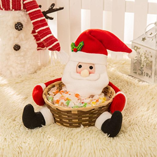 Wanshop® cestino natalizio decorazione santa claus cestino regalo, multicolor, a