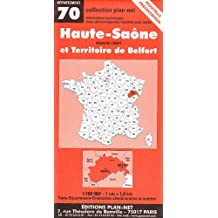 Carte routière : Haute-Saône - Territoire de Belfort