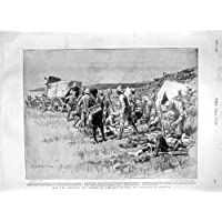 Mappa 1900 del Corpo Medico del Campo Di Battaglia Africa Ladysmith